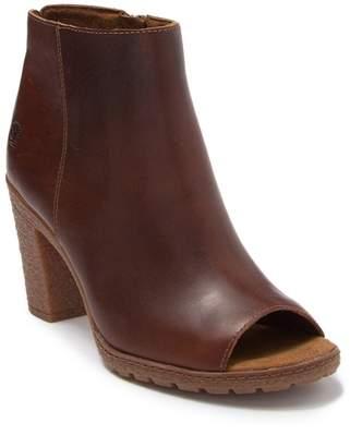 Timberland Tillston Leather Peep Toe Bootie