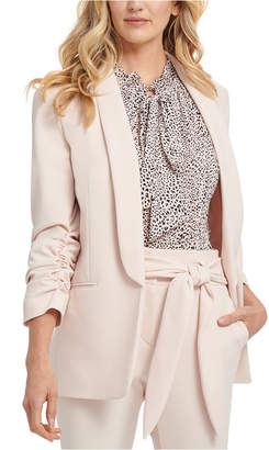 DKNY Shawl-Collar Ruched-Sleeve Blazer