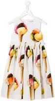Dolce & Gabbana ice cream print dress - kids - Cotton - 4 yrs