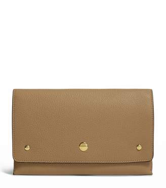 Burberry Leather Two-Tone Wristlet Clutch Bag