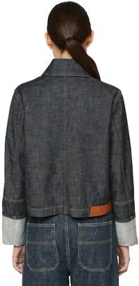 Loewe Cropped Cotton Denim Jacket
