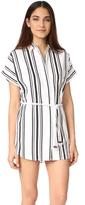 Soleil Striped Linen Beach Dress