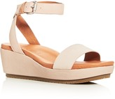 Gentle Souls Morrie Nubuck Leather Ankle Strap Platform Wedge Sandals
