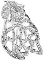 Nadri Pave Owl Pin