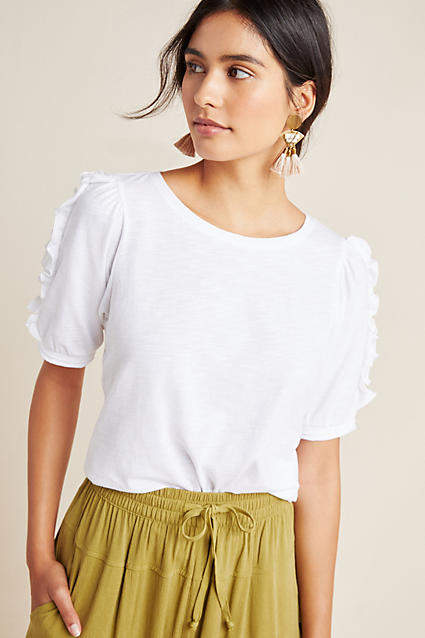 Maeve Clemence Ruffled Top