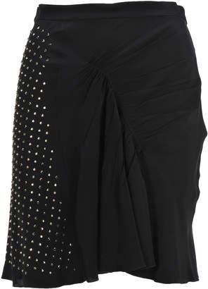 N°21 N.21 N21 Draped Embellished Mini Skirt