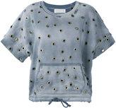 Faith Connexion eyelet drawstring T-shirt - women - Cotton - M