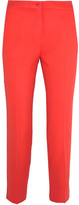 Etro Cropped Crepe Slim-leg Pants - Papaya