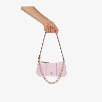 MANU Atelier Pink Mini Pita Suede Shoulder Bag