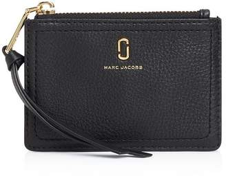 Marc Jacobs Top Zip Small Leather Wallet