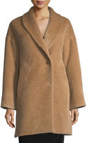 Cinzia Rocca Shawl-Collar One-Button Coat