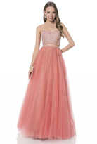Terani Couture Charming Beaded Sweetheart Two-piece A-line Tulle Gown 1611P1014A