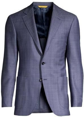 Canali Diamond Twill Wool Jacket