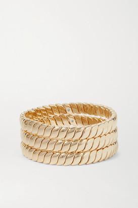 Roxanne Assoulin Simple Rope Set Of Three Gold-tone Bracelets