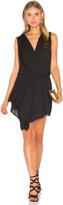 Krisa Asymmetrical Surplice Dress