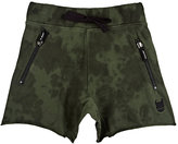 Munster TIE-DYED COTTON JERSEY SHORTS-GREEN SIZE 2