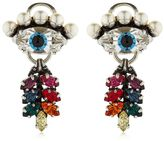 Anton Heunis Eye & Tiny Leaf Earrings