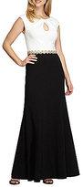 Alex Evenings Cap Sleeve Colorblock Gown