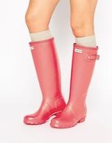Hunter Tall Matte Bright Pink Gumboots