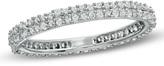 Zales 1/2 CT. T.W. Diamond Pavé Wedding Band in 10K White Gold
