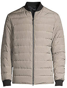 Theory Men's Down Fill Puffer Bomber Jacket