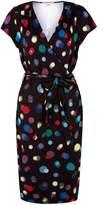 Yumi Bokeh Print Wrap Dress