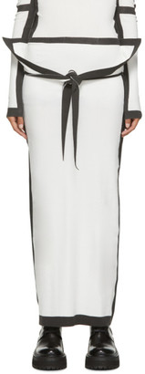 Issey Miyake White Bold Frame AP Skirt