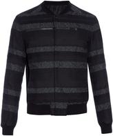 Balenciaga Striped cotton-blend bomber jacket