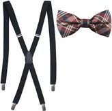 Jf J.Ferrar JF Fashion Plaid Bow Tie and Suspender Set