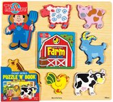 T.S. Shure Chunky World Farm Chunky Puzzle & Book