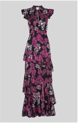 Whistles Butterfly Devore Maxi Dress
