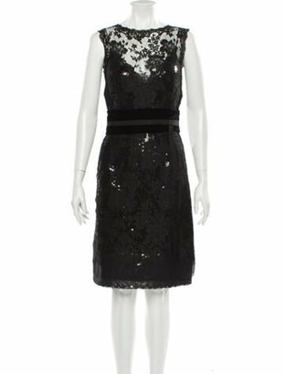 Dolce & Gabbana Lace Pattern Knee-Length Dress Black