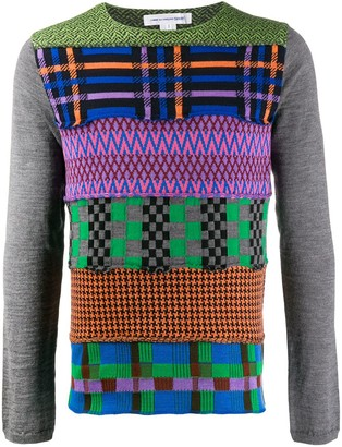 Comme des Garçons Shirt Contrast Panelled Knit Top
