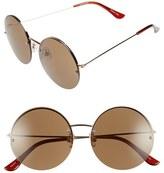 BP Women's 55Mm Rimless Round Sunglasses - Brown