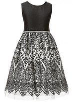 Jayne Copeland Big Girls 7-12 Rhinestone Embroidered Bow-Back Dress