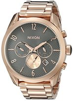 Nixon Women's A3662046 Bullet Chrono Analog Display Analog Quartz Rose Gold Watch