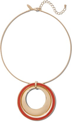 New York & Co. Double-Circle Pendant Collar Necklace