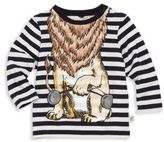 Stella McCartney Baby's Striped Lion Graphic Tee