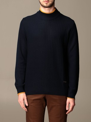 Alessandro Dell'Acqua Crewneck Sweater With Rectangular Patches