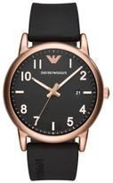 Emporio Armani Round Silicone Strap Watch, 43Mm