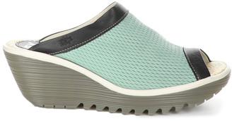 Fly London Yeno Leather Wedge Sandal