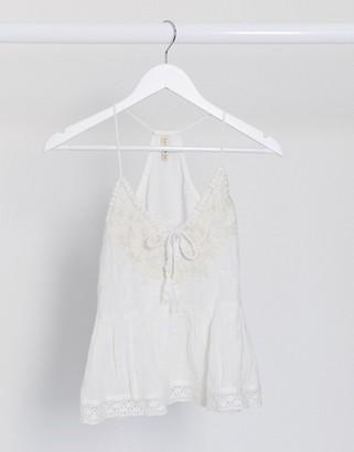 Raga sorrento tassel cami in white