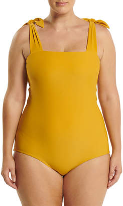 Saint Somebody Plus Size Come As You Are Shoulder-Tie One-Piece Swimsuit