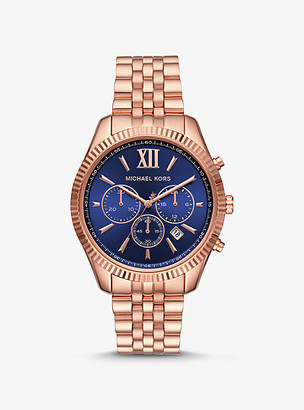 Michael Kors Lexington Rose Gold-Tone Watch