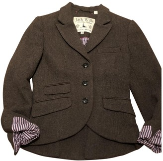 Jack Wills Brown Wool Jacket for Women