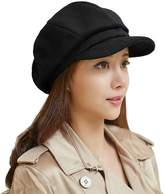 Siggi Newsboy Winter Hats Cap Ladies Cabbie Beret Cancer Visor Hat for Women Black