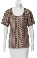 Lanvin Printed Short Sleeve Top