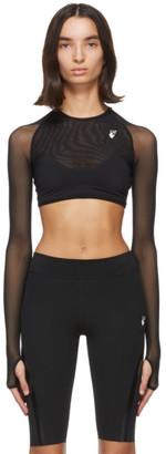 Off-White Black Athleisure Crop Top