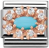 Nomination Couture Rose Gold CZ & Turquoise Classic Charm 430308/06