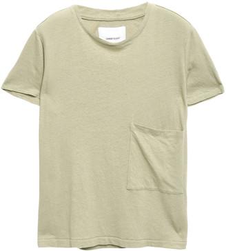 Current/Elliott The Drop Pocket Linen And Cotton-blend Jersey T-shirt